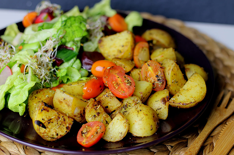 Köstliche vegane Bratkartoffeln - einfach und gesund!