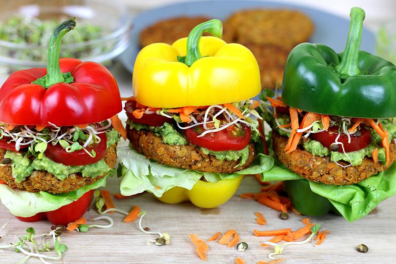 Vegane Burger aus dem Ofen - einfach & lecker