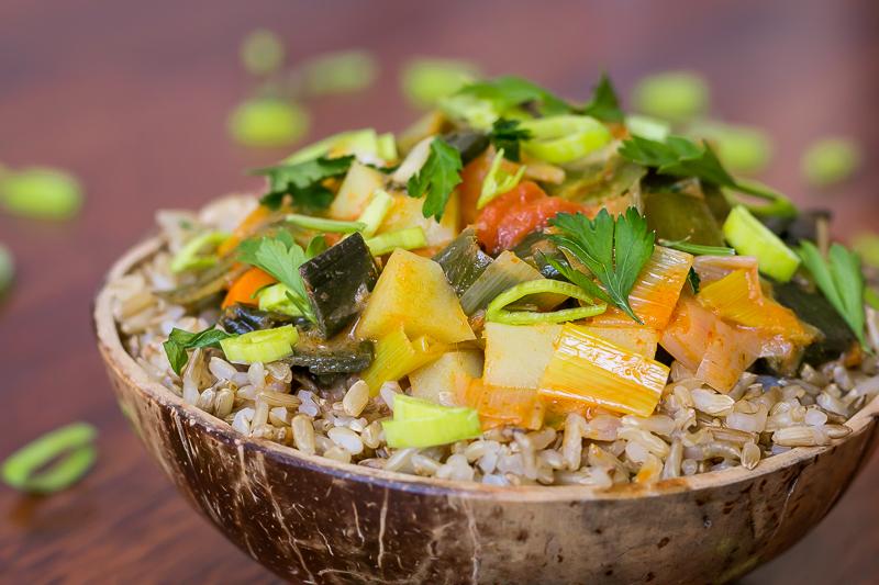 Buntes veganes Lauch Curry - einfach, lecker & gesund