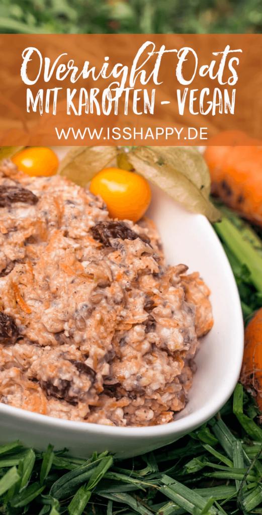 Carrot Cake Overnight Oats - vegan, lecker & gesund