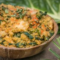 Veganes Mangold Quinotto - wie Risotto nur mit Quinoa!
