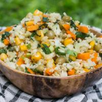 Gebratener Blumenkohlreis - vegan, gesund & super lecker
