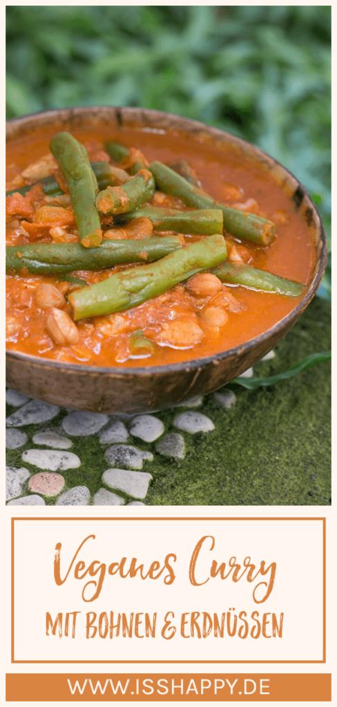 Veganes Curry Rezept mit Bohnen und Erdnüssen