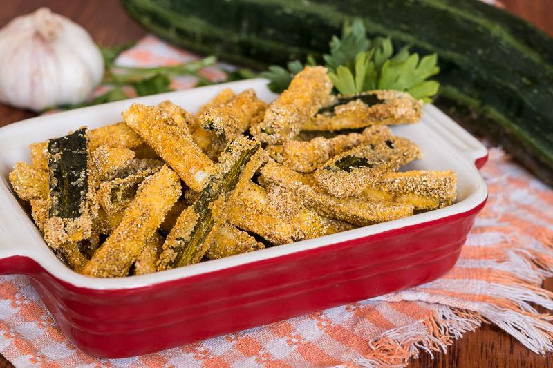 Knusprige Zucchini Pommes aus dem Ofen (ohne Öl)