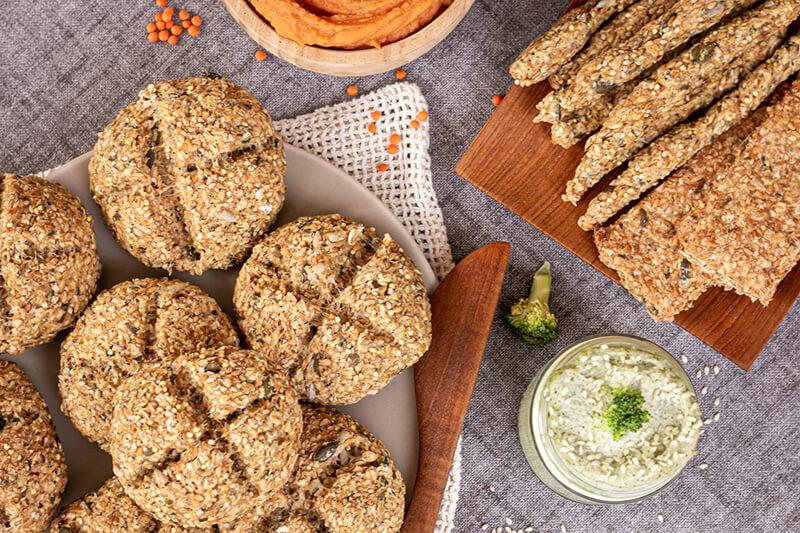 Einfache vegane Brötchen – glutenfrei, Vollkorn & ohne Hefe