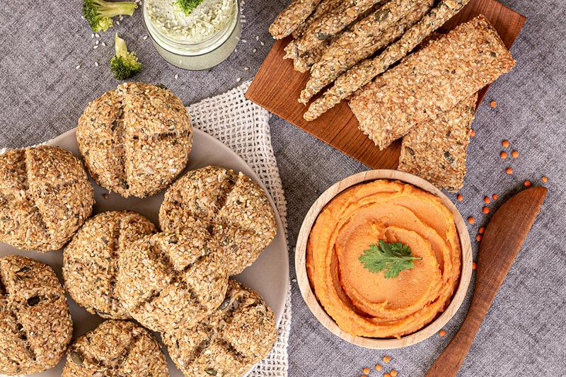 Würziger Rote Linsen Aufstrich mit Möhre – vegan, lecker & gesund