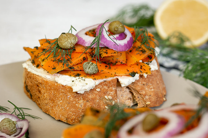 Veganer Lachs – einfaches & schnelles Karottenlachs Rezept