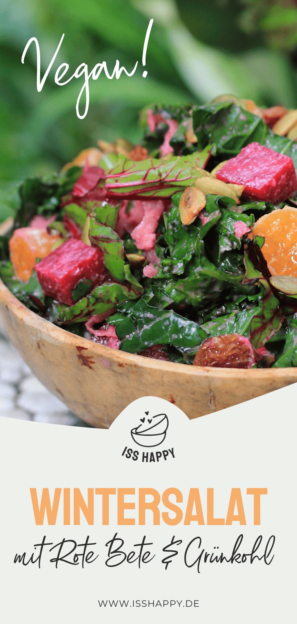 Winterlicher Rote Bete Salat mit Grünkohl & Orange