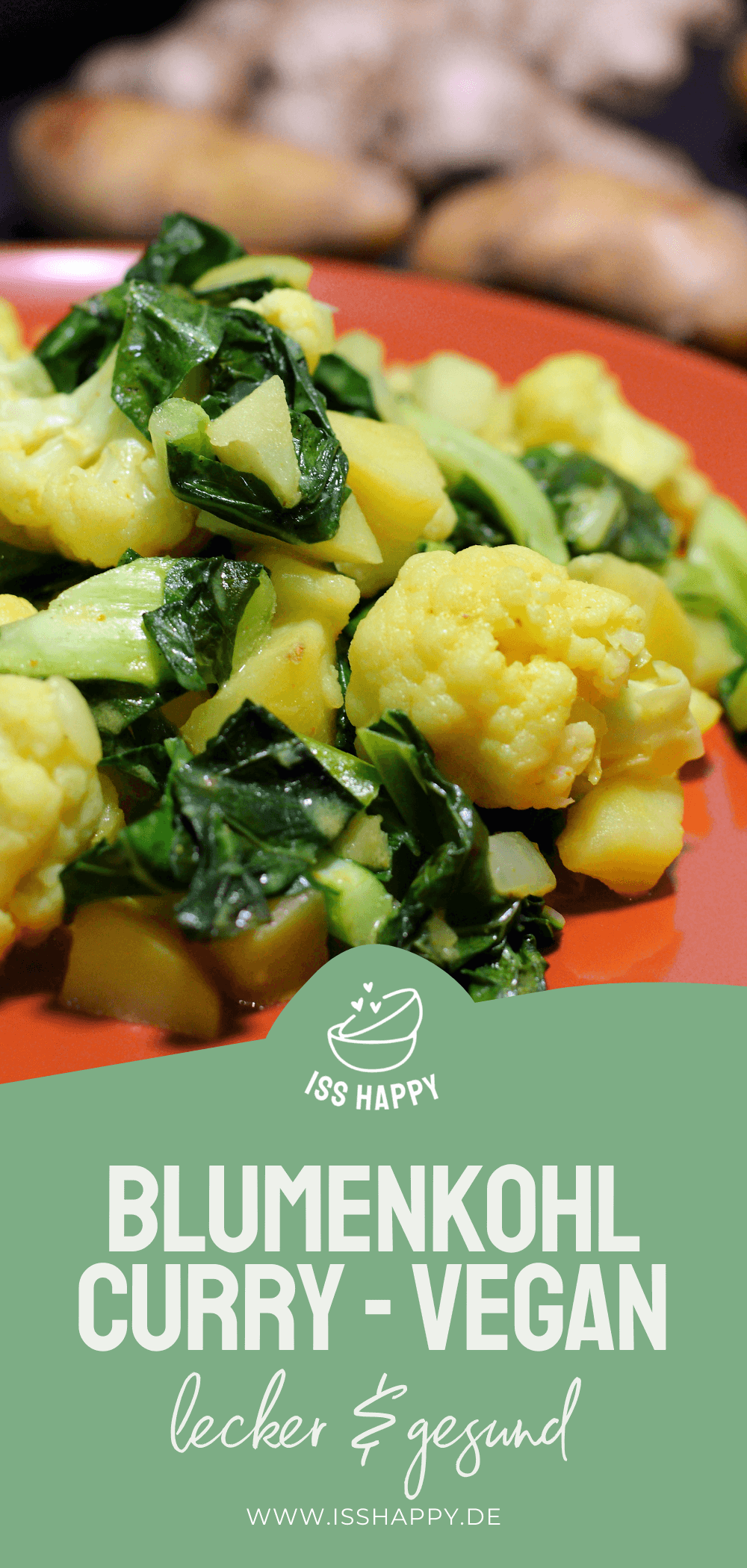 Köstliches veganes Blumenkohl Curry mit Kartoffeln in Kokosmilch