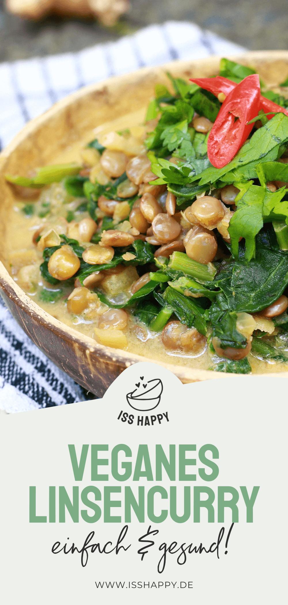 Leckeres veganes Linsencurry mit Grünkohl - einfach & gesund