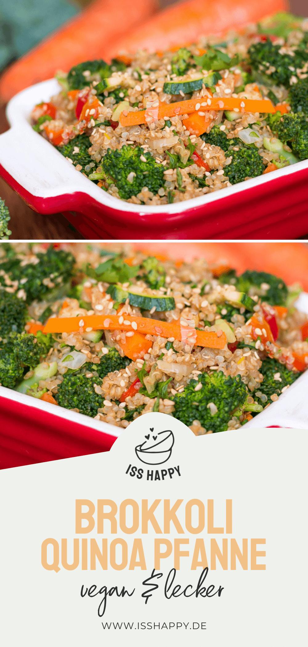 Schnelle asiatische Brokkoli Pfanne mit Quinoa – vegan, gesund & lecker