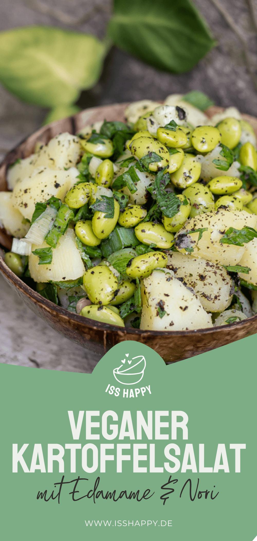 Köstlicher veganer Kartoffelsalat mit Edamame & Nori